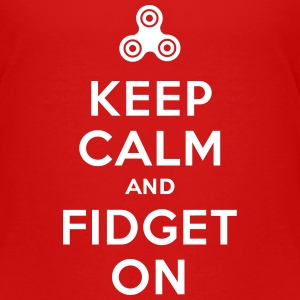Keep calm and fidget on - Fidget Spinner Camisetas - Camiseta premium niño