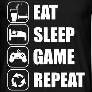 Eat,sleep,game,repeat,geek,gamer,nerd - Männer T-Shirt