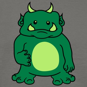Cute cute oger ork troll comic funny monster small T-Shirts - Men's T-Shirt