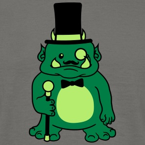 Sir gentleman gentleman hat fly suit monocle glass T-Shirts - Men's T-Shirt