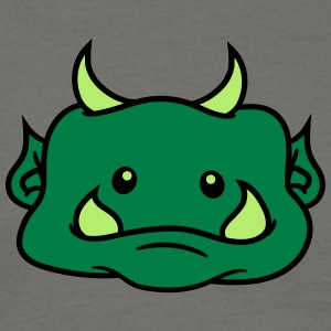 Head face cute cute ogre ork troll funny monster s T-Shirts - Men's T-Shirt