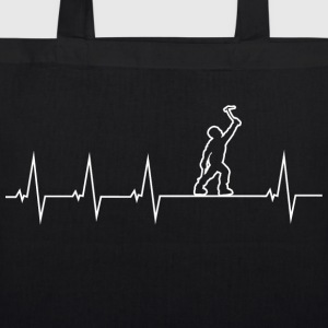 Climbing - heartbeat Bags & Backpacks - EarthPositive Tote Bag