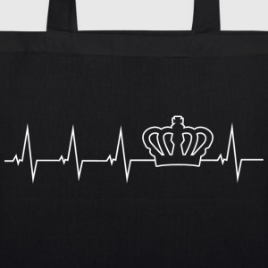 Crown - heartbeat Bags & Backpacks - EarthPositive Tote Bag