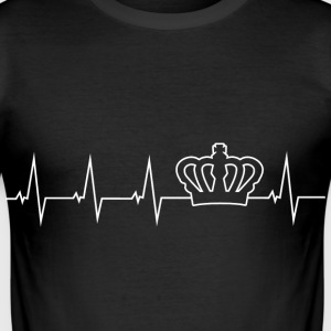 Crown - heartbeat T-Shirts - Men's Slim Fit T-Shirt