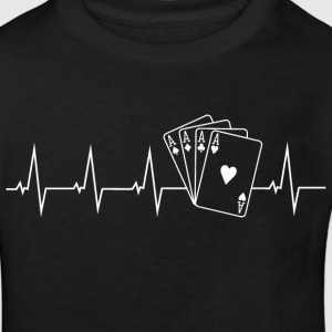 Poker - heartbeat Shirts - Kids' Organic T-shirt