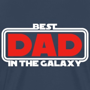 Best Dad in the Galaxy (dark) T-Shirts - Men's Premium T-Shirt