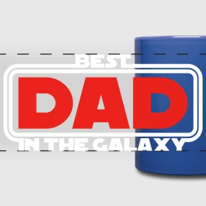 Best Dad in the Galaxy (dark) Mugs & Drinkware - Full Color Panoramic Mug