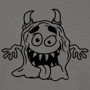 Slimy disgusting mucus glibber monster small naugh T-Shirts - Men's T-Shirt