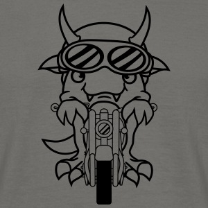 Biker fast funny moped scooter mopo dragon cute co T-Shirts - Men's T-Shirt