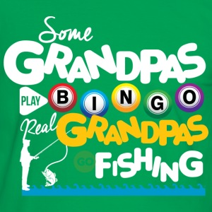 Real Grandpas Go Fishing T-Shirts - Männer Kontrast-T-Shirt