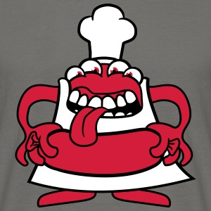 Hunger grilling chef cook eating sausage sausage a T-Shirts - Men's T-Shirt