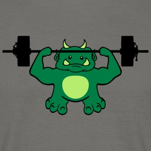 Dumb, exercise, exercise, cute, cute, ogre, ork, t T-Shirts - Men's T-Shirt