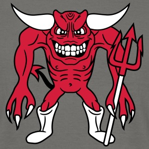 Demon hell satan dreizack monster evil dangerous v T-Shirts - Men's T-Shirt