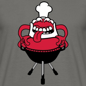 Bbq hunger grilling chef cook eating sausage sausa T-Shirts - Men's T-Shirt