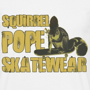 White Squirrel Pope Skatewear Men's T-Shirts - Men's T-Shirt