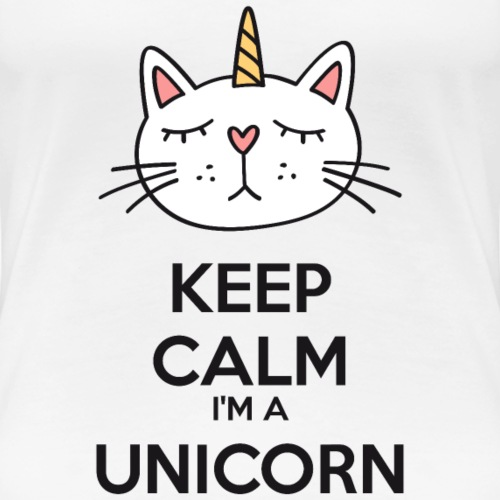 Keep calm chat licorne