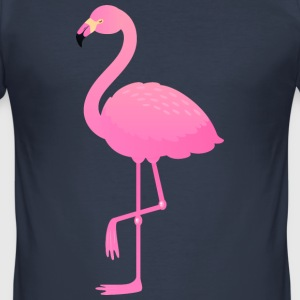 Cute Pink Flamingo Illustration T-Shirts - Men's Slim Fit T-Shirt