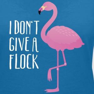 I Don't Give A Flock | Funny Flamingo Quote Design T-shirts - Vrouwen T-shirt met V-hals
