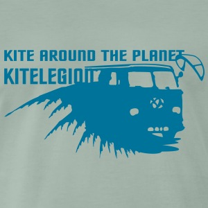 kite_around_t_planet_vec_1de T-Shirts - Männer Premium T-Shirt