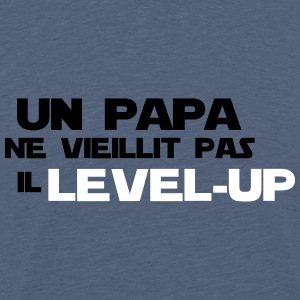 un papa ne vieillit pas il Level up - T-shirt Premium Homme