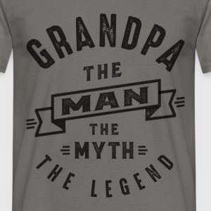 Grandpa The Myth - Men's T-Shirt