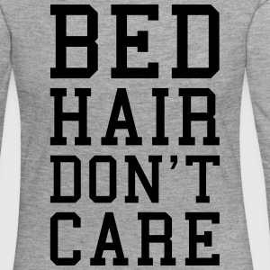 Bed Hair Funny Quote  Long Sleeve Shirts - Women's Premium Longsleeve Shirt
