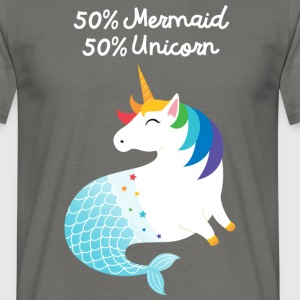 50% Mermaid - 50% Unicorn T-Shirts - Men's T-Shirt