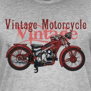 Retro motorcycle Tee shirts - T-shirt vintage Homme