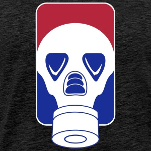 league_gas mask_vec_3 en T-Shirts - Men's Premium T-Shirt