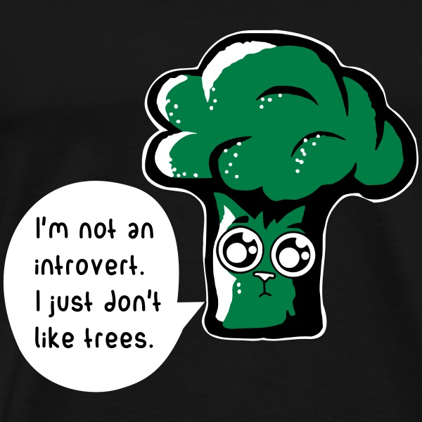 introverted broccoli cat T-Shirts - Männer Premium T-Shirt