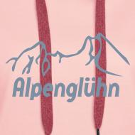 Motiv ~ Frauen Kapuzenpullover Alpenglühn