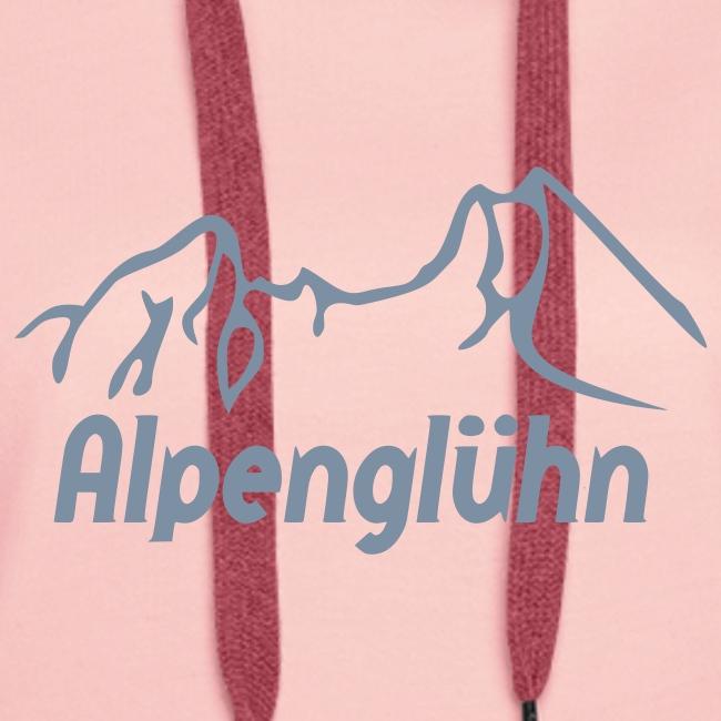Frauen Kapuzenpullover Alpenglühn