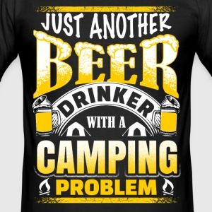 Beer drinkers - camping - EN T-Shirts - Men's Slim Fit T-Shirt