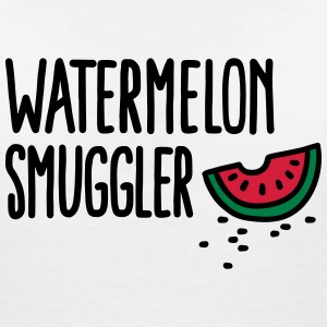 Watermelon smuggler T-Shirts - Women's V-Neck T-Shirt