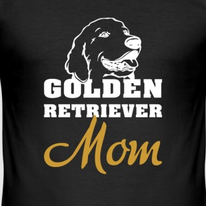 Golden Retriever Mama T-skjorter - Slim Fit T-skjorte for menn