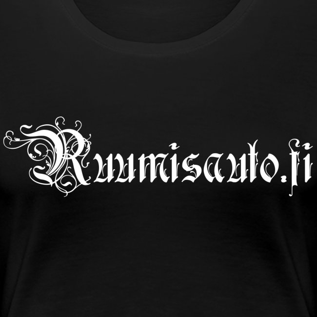 Goottiromanttinen logo, naisten t-paita etupainatuksella