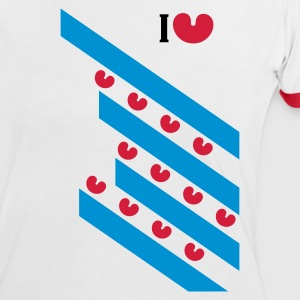 Wit/rood i_love_friesland T-shirts - Vrouwen contrastshirt