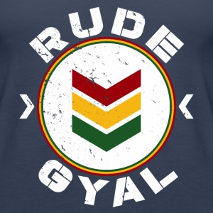 Rude Gyal white distressed Tops - Frauen Premium Tank Top