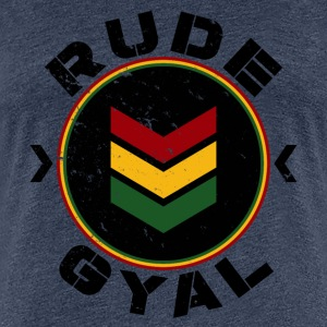 Rude Gyal black distressed T-Shirts - Frauen Premium T-Shirt