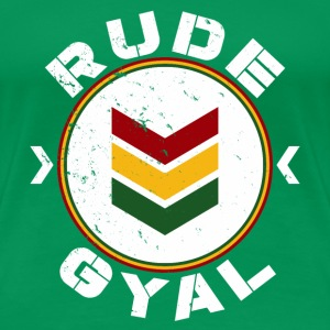 Rude Gyal white distressed T-Shirts - Frauen Premium T-Shirt