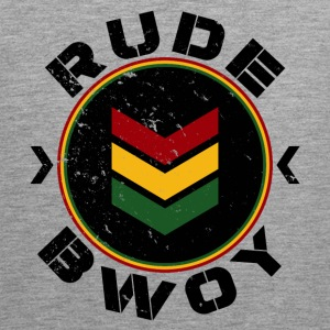 Rude Bwoy black distressed Sportbekleidung - Männer Premium Tank Top