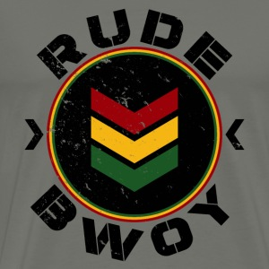 Rude Bwoy black distressed T-Shirts - Männer Premium T-Shirt