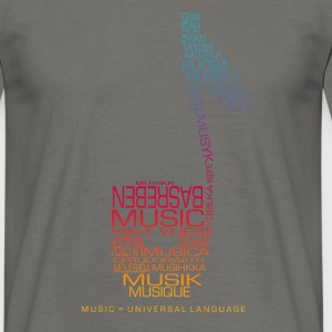 Music = Universal Language - T-shirt Homme