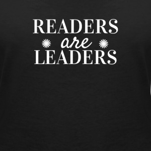 Readers are Leaders Tee shirts - T-shirt col V Femme