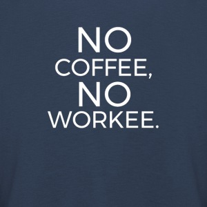 No Coffee No Workee Langarmede T-skjorter - Premium langermet T-skjorte for barn