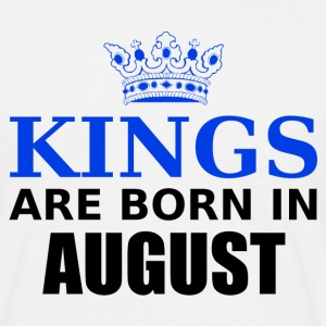 kings are born in august Tee shirts - T-shirt Homme