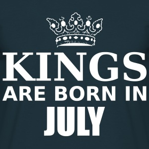 kings are born in july T-Shirts - Men's T-Shirt