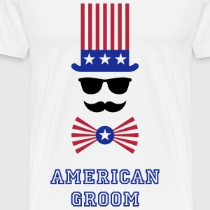 American Groom (Stag Party) T-Shirts - Men's Premium T-Shirt