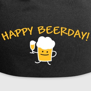 Happy Beerday (b) Caps & Hats - Jersey Beanie