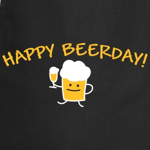 Happy Beerday (b)  Aprons - Cooking Apron